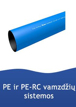 PE100, PE100 RC vamzdžiai, el. virinamos alkūnės, movos