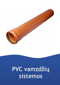 PVC vamzdžiai, alkūnės, movos, protarpiai, trišakiai